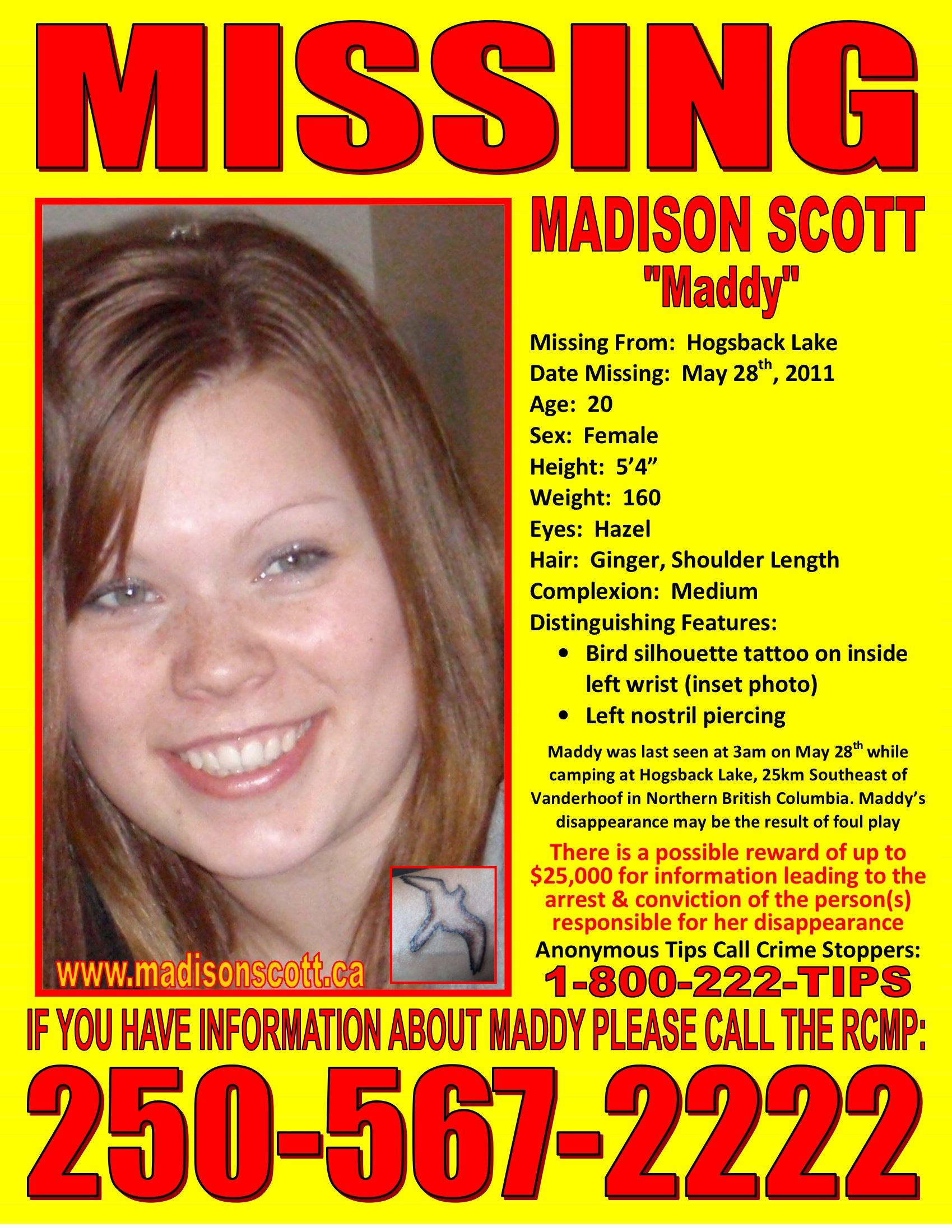 Missing Poster Madison Scott