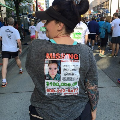 Sun run 2015 maddy on shirt