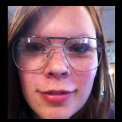 maddy with glasses